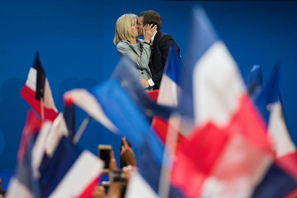 Emmanuel i Brigitte Macron