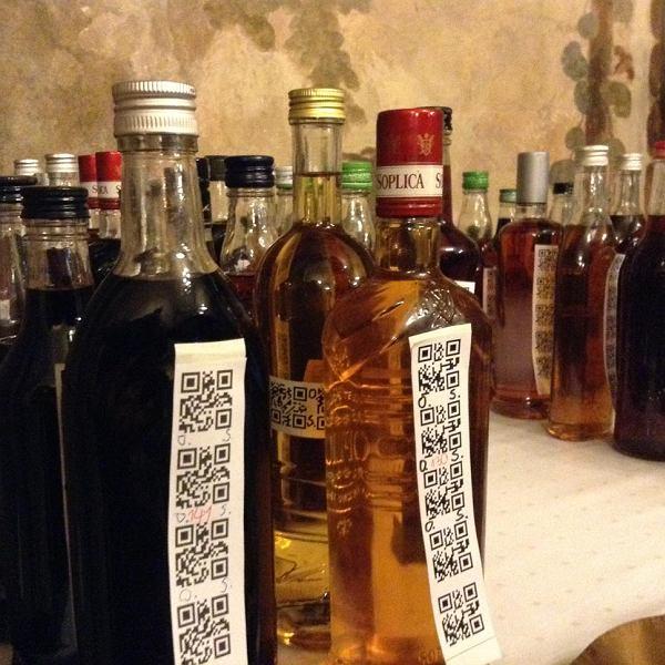 III Mazowiecki Konkurs Nalewek Nalewka Księcia Pepi, Jabłonna 2013 - 57 butelek oznaczonych kodami