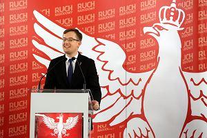 Narodowcy symbolicznie powiesili europosłów PO. Robert Winnicki: Brak kary śmierci za zdradę stanu to regres cywilizacyjny