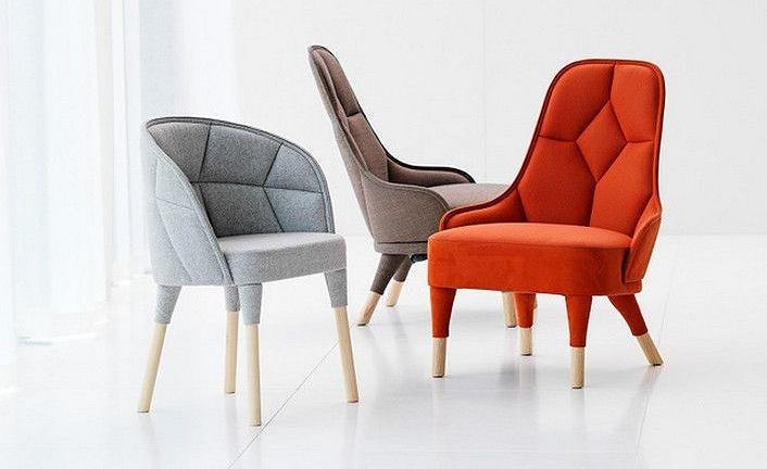EMMA i EMILY: tapicerowane krzesła od Färg & Blanche