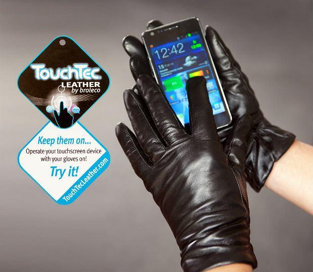 608bb23c2d7ed Rękawiczki umożliwiające obsługę ekranów dotykowych marki Ochnik