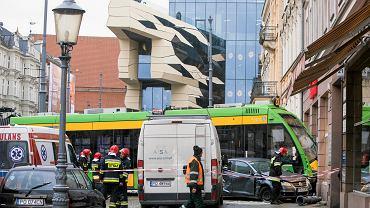 4 stycznia 2018 r. Wypadek tramwaju linii nr 23 w centrum Poznania