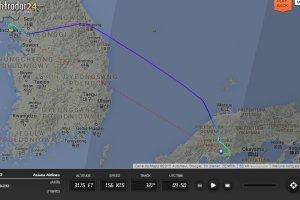 Samolot l�duj�cy w Hiroszimie wypad� z pasa. Ponad 20 os�b z niegro�nymi obra�eniami