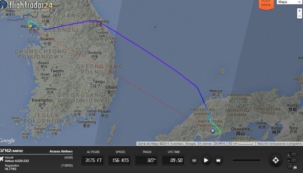 Samolot lądujący w Hiroszimie wypadł z pasa. Ponad 20 osób z niegroźnymi obrażeniami
