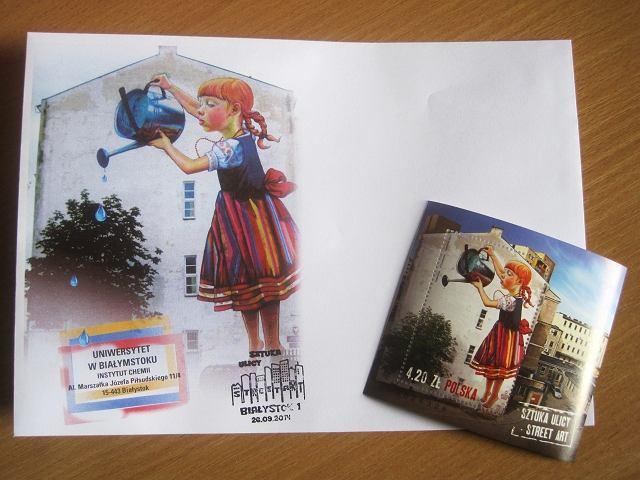 Dziewczynka na znaczku bia ostoczanie zainteresowani for Mural bialystok dziewczynka z konewka