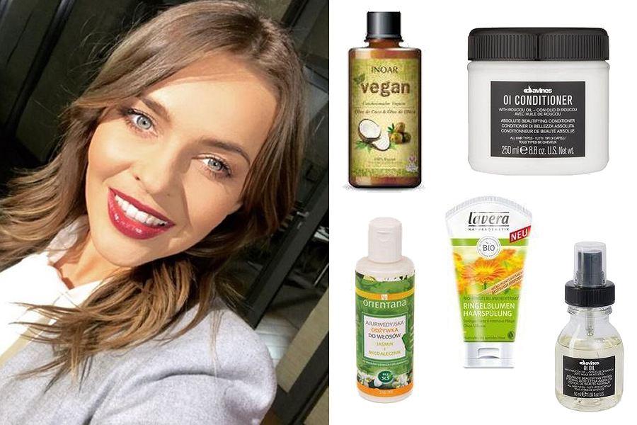 Kolaż, wegańskie odżywki do włosów/Materiały partnera