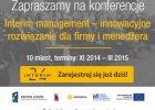 """10 konferencji og�lnopolskich """"Interim management - innowacyjne rozwi�zanie dla firmy i mened�era"""""""