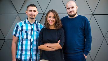 Wrocławski start-up Ada. Na zdjęciu od lewej: Adam Stankiewicz, Natalia Świrska i Kamil Nicieja