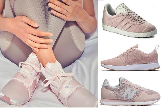 buty sportowe pudrowy róż