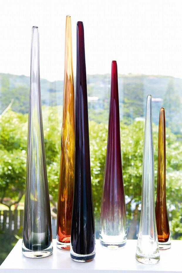 Butelki ze szkła Davida Reade