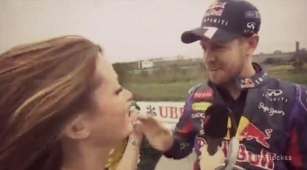 Sebsstian Vettel w akcji