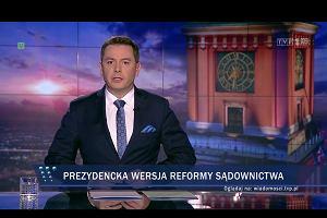 """Powrót Dudy według """"Wiadomości"""""""