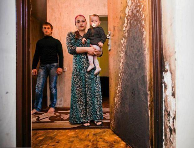 W Białymstoku podpalono dzrwi mieszkania czeczeńskiej rodziny