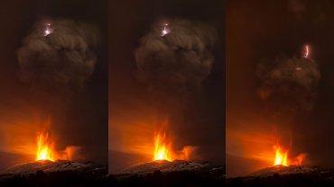 Erupcja wulkanu Etna w czwartek 3 grudnia