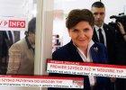 Premier Beata Szydło w TVP Info