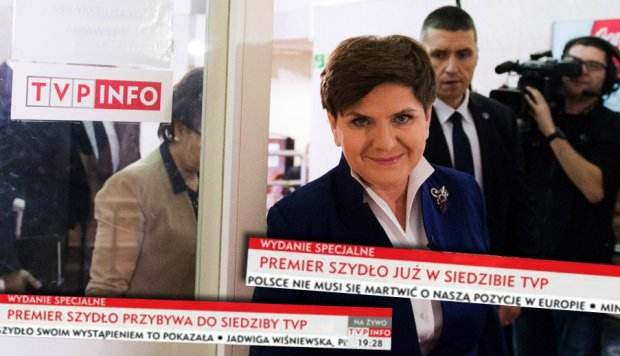 Premier Beata Szyd�o w TVP Info