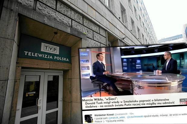 Wojciech Czuchnowski opu�ci� studio TVP Info