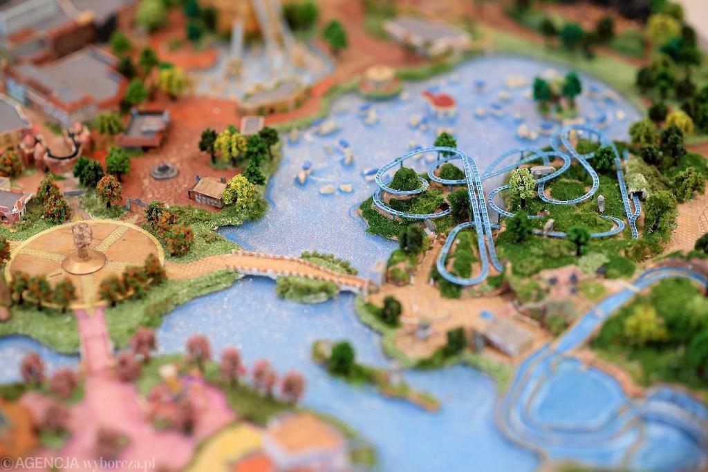 Makieta parku rozrywki Adventure World Warsaw Parks & Resort