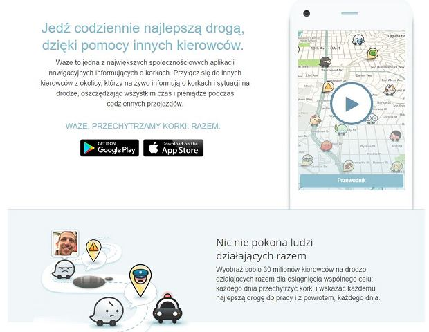Waze - aplikacja, która posłuży do testowania