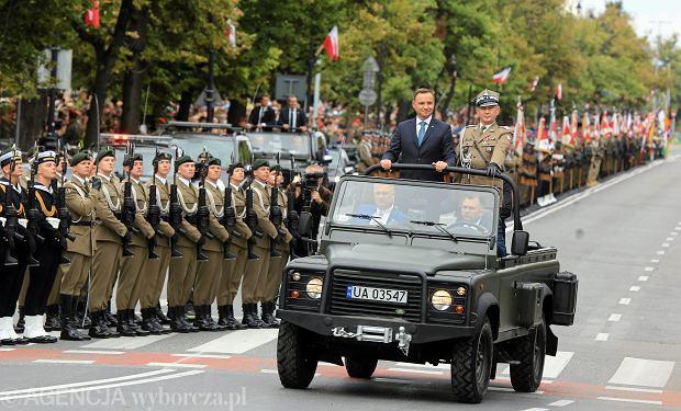 Święto Wojska Polskiego w 2016 roku. Defilada odbywała się wówczas na Trakcie Królewskim
