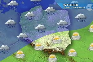 Wtorek cieplejszy, w środę przelotne opady, a w czwartek chłód [PROGNOZA POGODY]