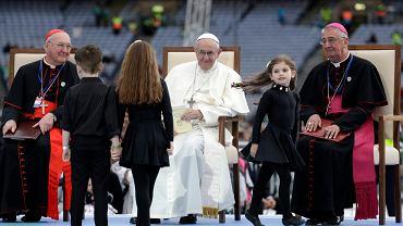 Papież Franciszek podczas spotkania z wiernymi w Croke Park Stadium w Dublinie, 25 sierpnia 2018 r.