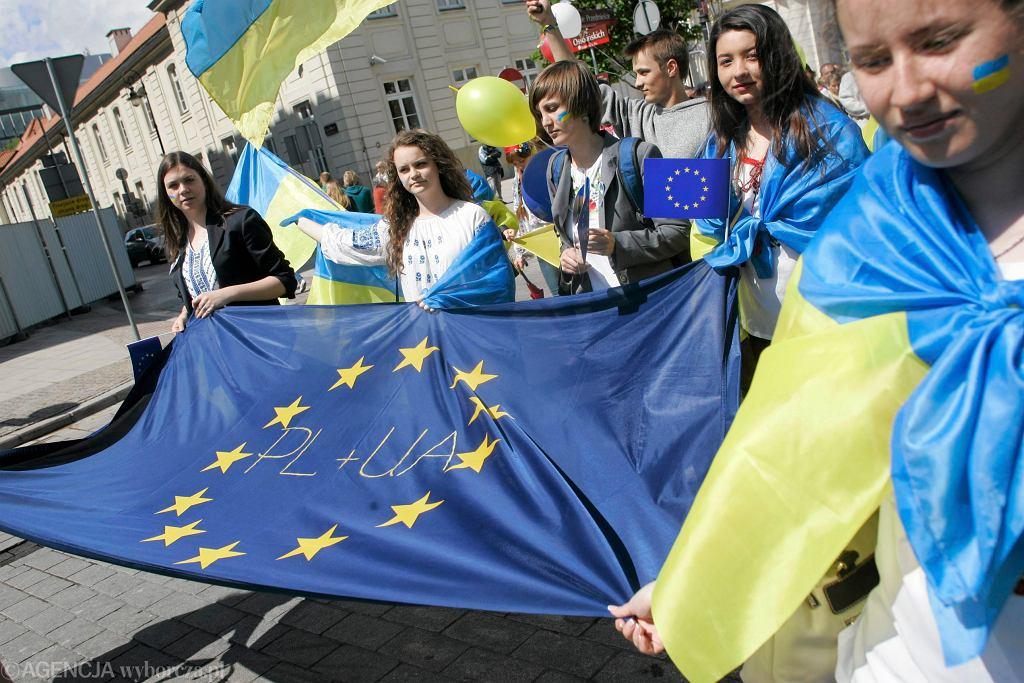 Ukraińcy podczas Parady Schumana
