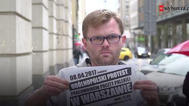 Listonosz Rafał Czerski, jeden z organizatorów protestów na Poczcie Polskiej: - Zakładowa 'Solidarność' wielokrotnie naciskała na nas, żebyśmy zaniechali protestu.