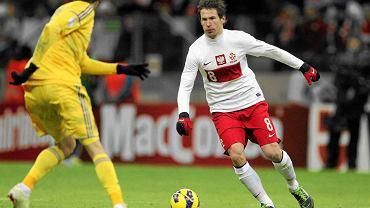 Grzegorz Krychowiak w meczu Polska - Ukraina