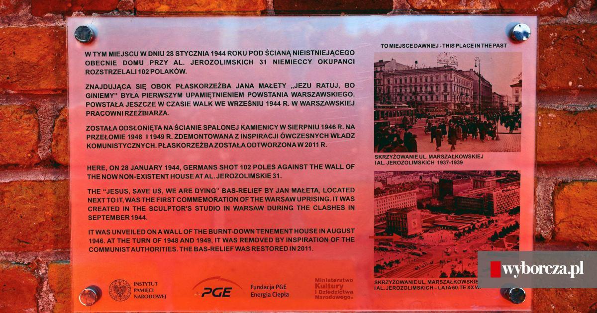6e993aae20bed Zamiast 'hitlerowców' - 'niemieccy okupanci'. Nowa tablica zawisła w Al.  Jerozolimskich