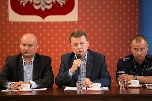 Mariusz Błaszczak w Poznaniu po burzach: czas oczekiwania na pieniądze ma być jak najkrótszy