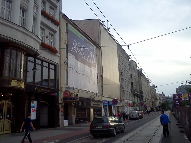 Reklama A2 przy pl. Wolności