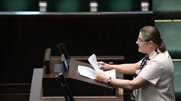 7.06.2018, Sejm, Krystyna Pawłowicz, poseł sprawozdawca podczas sprawozdania KRS za 2017 rok.