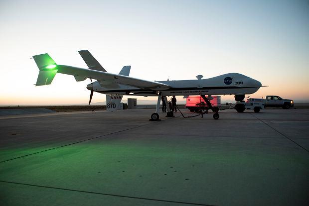 Historyczny lot drona NASA