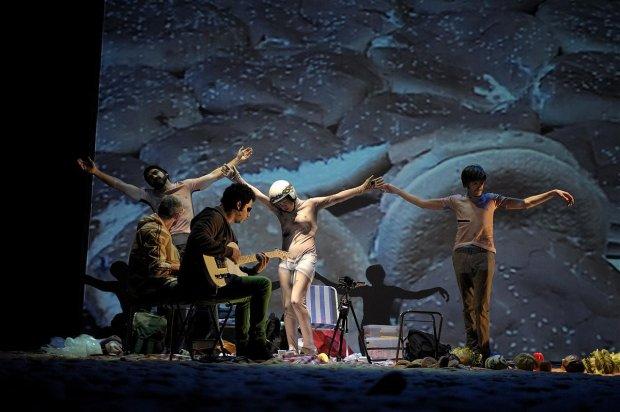 Scena ze spektaklu 'Golgota Picnic'