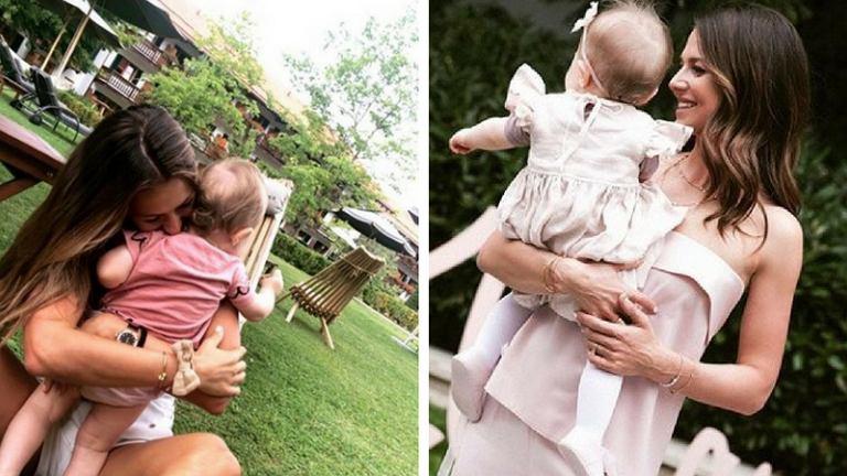 Anna Lewandowska trenuje bieganie z córką Klarą