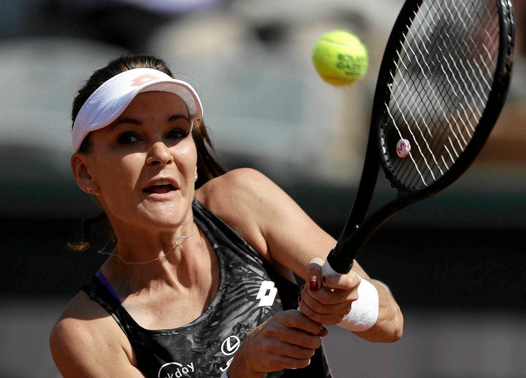 Agnieszka Radwańska w meczu II rundy Rolanda Garrosa