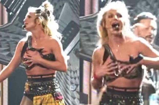 Britney Spears podczas koncertu miała poważny problem z ubraniem, jednak nie przerwała występu. Dzięki pomocy tancerzy obyło się bez wpadki.
