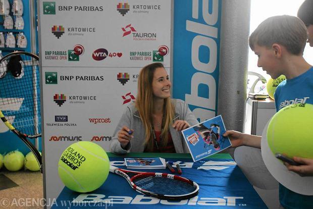 Francuska tenisistka zosta�a obl�ona w Spodku przez kibic�w