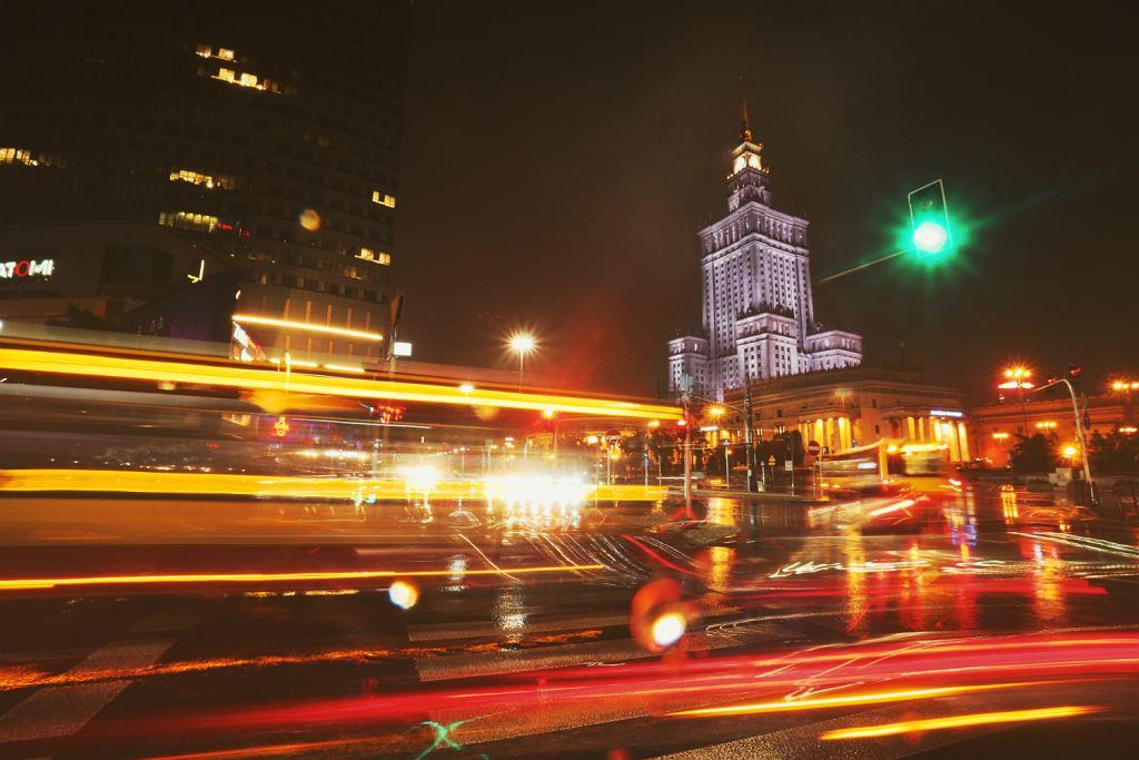Warszawa nocą - Lato w mieście