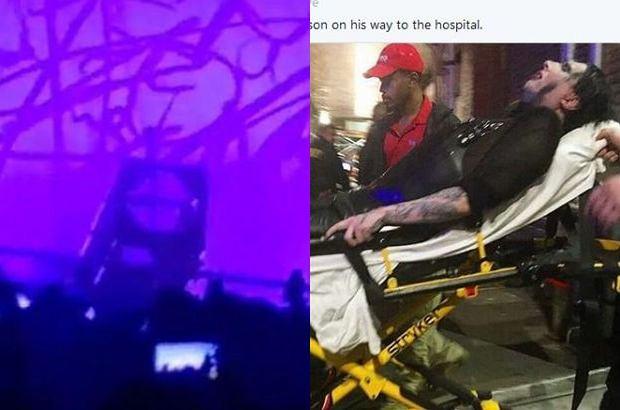 Marilyn Manson został poważnie kontuzjowany podczas koncertu w Nowym Jorku. Artysta trafił do szpitala.