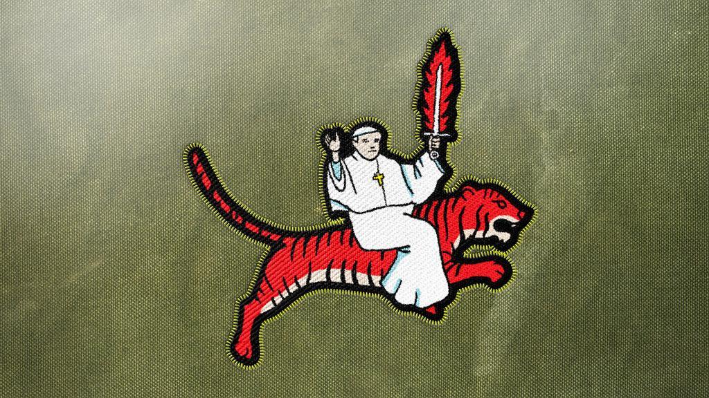 Logo polskiej misji w ''Kosmo'' (fot. Ceská televize)