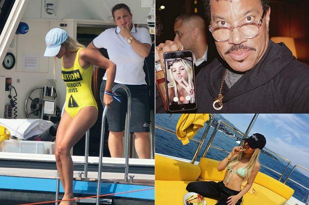 """Sofia Richie to 17-letnia córka jednej z legend muzyki - Lionela Richie. Choć nastolatka dopiero zaczyna swoją karierę, jest już znana jako """"it girl"""". Ma dużo pieniędzy, sławnego tatę, a do tego urodę i popularny wśród internautów Instagram. Obecnie przebywa w Saint Tropez, gdzie relaksuje się bawi."""