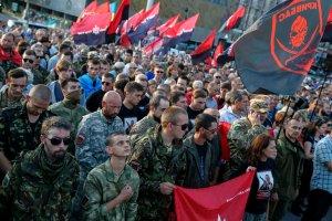 Ukraina: Wiec Prawego Sektora w Kijowie. Organizacja chce referendum ws. wotum nieufno�ci dla w�adz