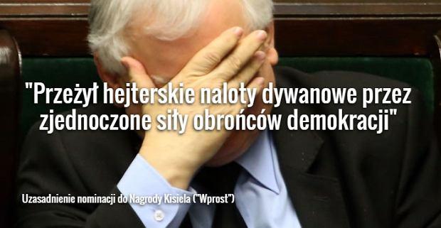 """""""Za obronę Europy"""" albo """"przeżycie hejterskich nalotów"""". Tak """"Wprost"""" argumentuje nominacje do Nagrody Kisiela"""