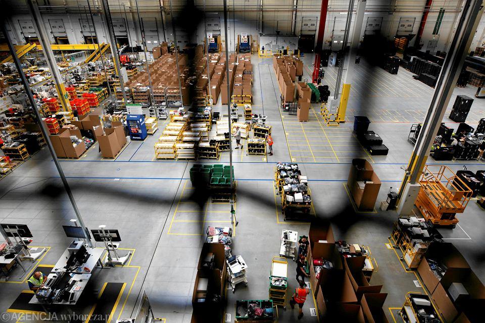 Centrum logistyczne Amazona w Sosnowcu.