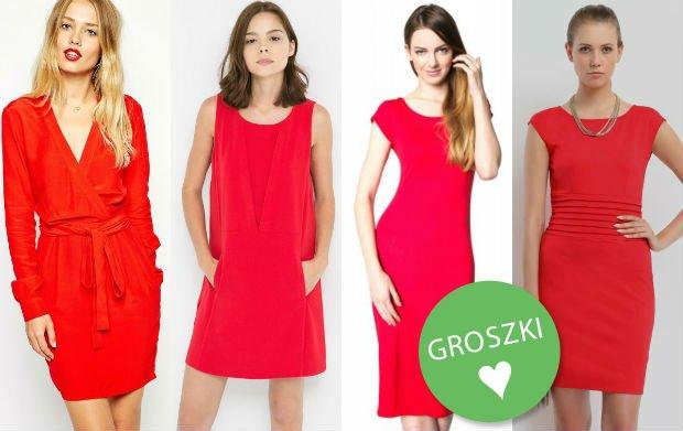 Seksowne, modne i niezawodne - czerwone sukienki z jesiennych kolekcji [ponad 80 propozycji]