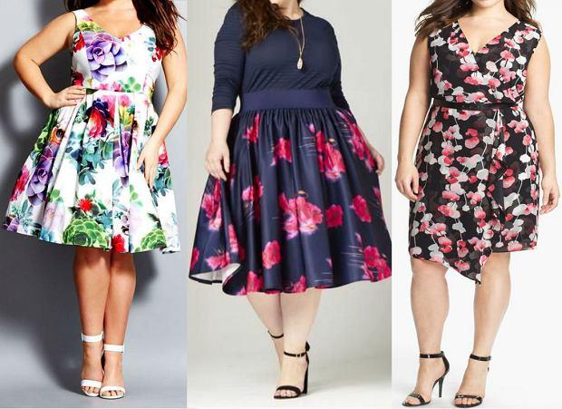 bb1862875d Sukienki dla puszystych z kwiatowym motywem  Moda plus size