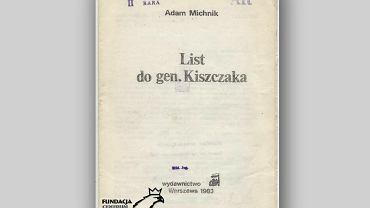 List Adama Michnika do gen. Kiszczaka