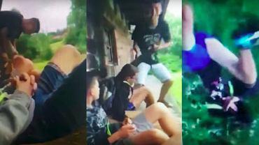 Grupa nastolatków znęca się nad kolegą